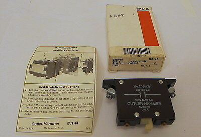 C320KB1 Cutler-Hammer Auxiliary Contact - NEW