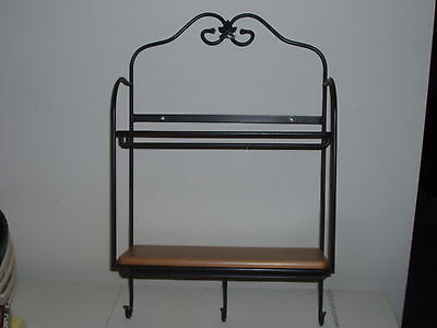 Longaberger Wrought Iron Envelope Rack wih natural shelf