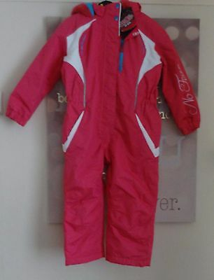 No Fear ski wear ski  suit snow suit age 3-4 years NWT R.R.P £69.99 hot pink