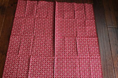 "Longaberger 36"" square table cloth fabric accent NEW Blushing Hearts"