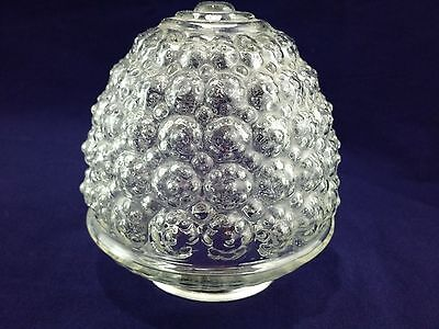 """Vintage Glass Ceiling Light Fixture Globe Clear Patterned Acorn/ Pine Cone 6"""""""