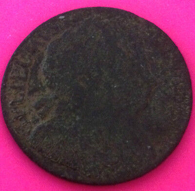 1694 William & Mary Half Penny- Nice Collectable Coin