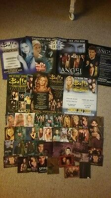 Buffy The Vampire Slayer, Angel, Spike, Job Lot Of 48 Various Chase Trade Cards