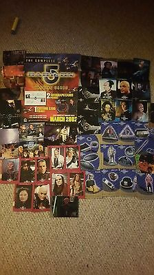 Babylon 5  -  Job Lot Of 48 Various Chase Trade Cards Plus A4 Promo Flyer