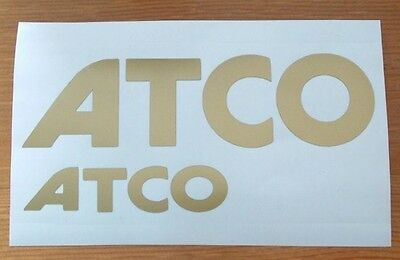 Atco Gold Logo Decal Stickers Set Of 2