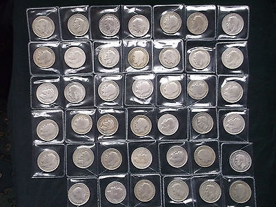 George V and George VI .500 silver half crowns X 41 dating 1921 - 1946