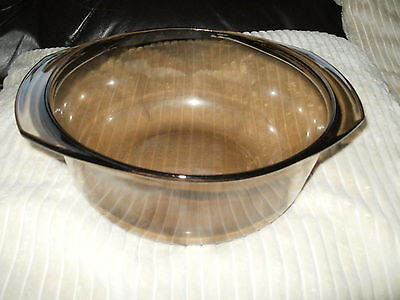arcuisine France moked Brown Glass Large Casserole Dish (PM703)