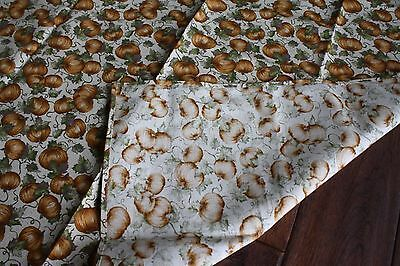"""Longaberger 36"""" square table cloth fabric accent NEW Pumpkin Patch"""