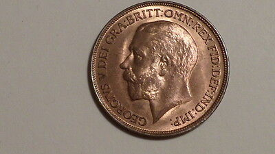 1914 Penny.George V.1911-1936. UNC.90% Lustre.Well Struck. British Milled.Scarce