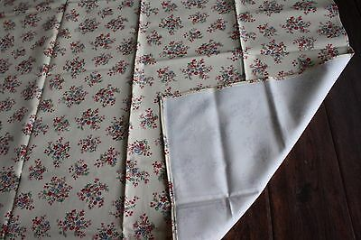 "Longaberger 36"" square table cloth fabric accent NEW Sweetheart Floral"