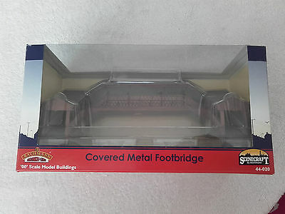 BACHMANN SCENECRAFT OO Gauge 44-020 COVERED METAL FOOTBRIDGE