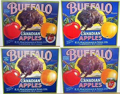 Buffalo Apple Box Label - 4 Different Variations