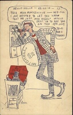 Mutt & Jeff 4th Fourth of July Comic c1910 Postcard