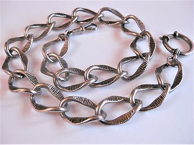 Antique Watch Chain Silver 835, 15in