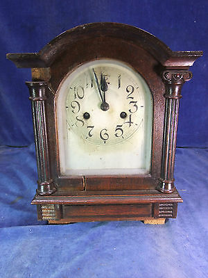 Victorian Oak Mantle Clock c.1900 [9373]