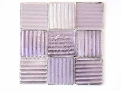 LOT (58) FRANK LLOYD WRIGHT Architectural Glass Prism Luxfer Flower Tile