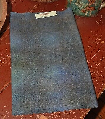 1/4 Yd 100% Hand Dyed Wool For Rug Hooking Or Wool Applique ~ Colonial Blue #1
