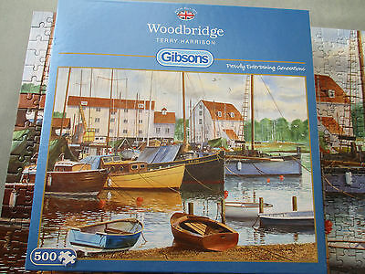 GIBSONS 500 PIECE JIGSAW PUZZLE - WOODBRIDGE by TERRY HARRISON
