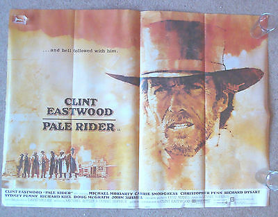 PALE RIDER 1985 Clint Eastwood RARE ORIGINAL 1 sheet Movie poster UK 39 X 30""