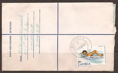 AFRICA / ZAMBIA. REGISTERED COVER. 58n. OLYMPICS. CHINGOLA TO LUSAKA.