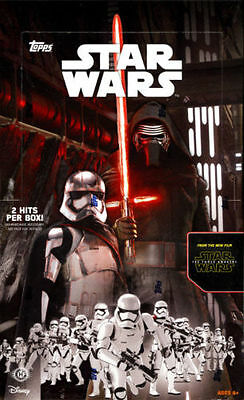Topps Star Wars 2015 The Force Awakens Series 1 SEALED Hobby Box 2 HITS PER BOX!