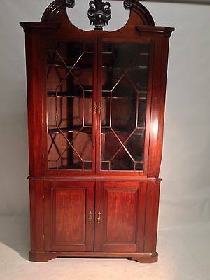 A Very Fine Early George The Third Chippendale Style Four Door Corner Cabinet