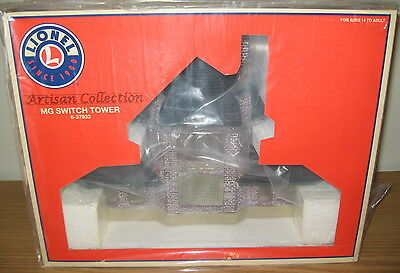 Lionel 6-37933 Mg Switch Tower Railroad Building Train Accessory O Scale Artisan