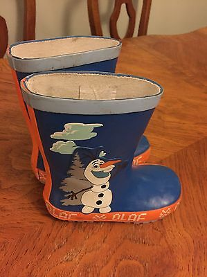 Frozen Olaf Wellies Welly Boots Size 8