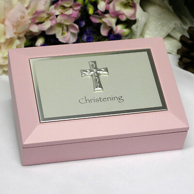 Christening Memory Keepsake Box - Pink | Christening Gift