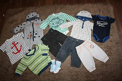 Bundle Of Baby Boy's Clothes Age: 3-6 Months (10 Items)