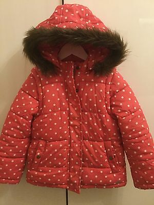 Girls Mini Boden Pink Padded Jacket Age 7-8 Years