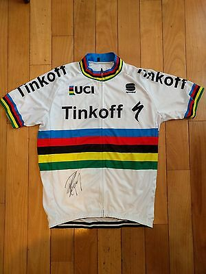 PETER SAGAN signed 2016 World Championship Jersey PROOF Tinkoff TOUR DE FRANCE