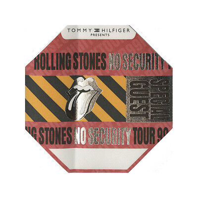 Rolling Stones authentic Special Guest 1999 tour Backstage Pass