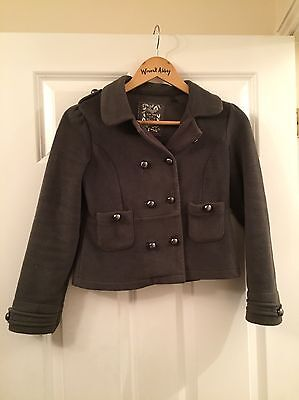 Next Girl 11 Years Jacket Coat Grey fleece Military Style