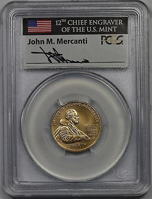 1997-W Franklin D Roosevelt Gold Modern Commemorative $5 MS69 PCGS Mercanti Sign