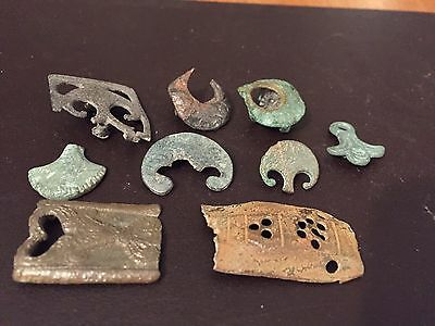 Large Lot Of Roman Army Belt Fittings