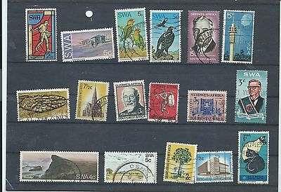 South West Africa stamps. Small used lot. (W874) Namibia