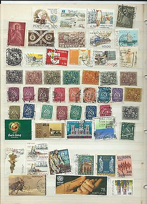 Portugal stamps. Stock page of used. (T174)