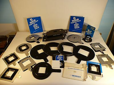 Assorted Beseler Negative Carriers,Medium Format,35mm,110,NOS and used,67C 23C