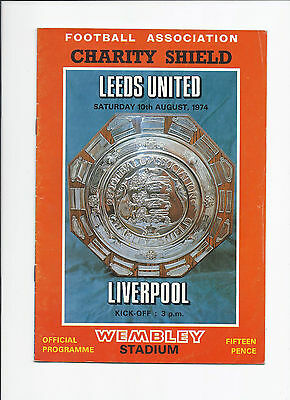 Leeds United v Liverpool 10 August 1974 Charity Shield