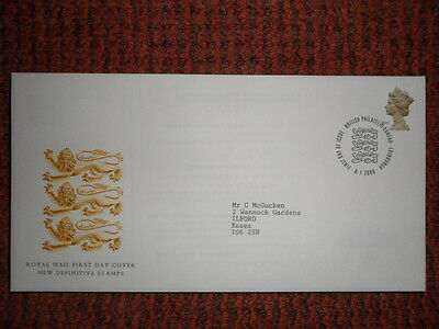 Royal Mail F D Cover New Definitive Stamps 6/1/2000 Special Postmark