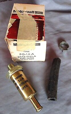 NOS Ford MotorCraft assembly line Mustang Falcon Bronco Torino fuel filter
