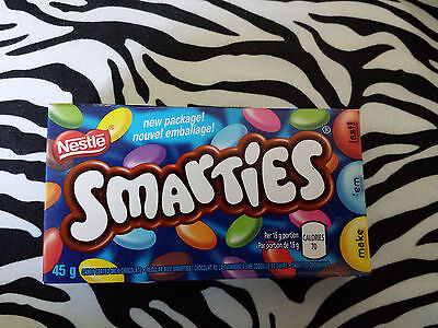 Nestle Smarties Candy 4 boxes x 45g Canada only