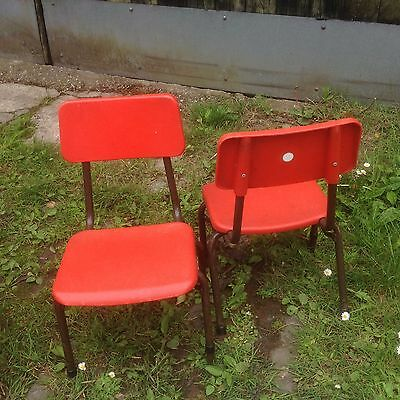 Vintage Retro Childs Nursery SCHOOL STACKING CHAIRs X2 by REMPLOY White Dot