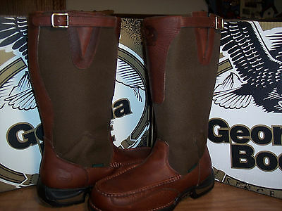 """New Men's 15"""" Georgia Athens Snake Proof Boots W'prf Sport&trail Leather -9.5M"""