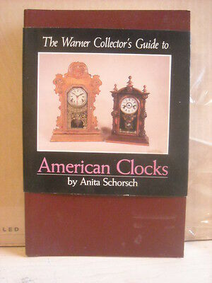 Book--The Warner Collector's Guide To American Clocks VG condition