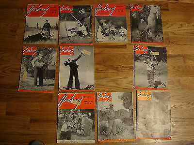 1950 Archery Magazines, 10 Issues,