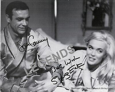 """Sean Connery & Shirley Eaton Goldfinger 8"""" x 10"""" B&W AUTOGRAPHED Photo Reprint 3"""