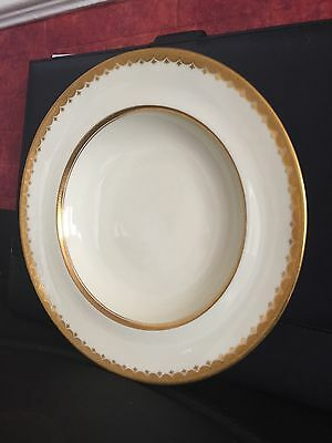 "Minton Bone China for R Briggs Boston Gold Gilded Soup Bowls * 8.75"" Incrusted"