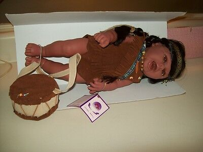 Goldenvale Collection Native American Indian 16 ½ in. Vinyl Doll Only 2000 Made.